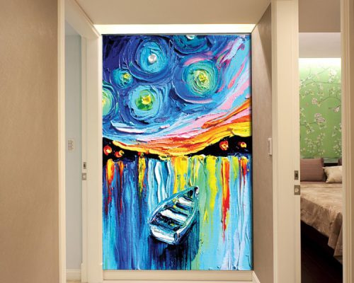 3d canvas painting abstract print